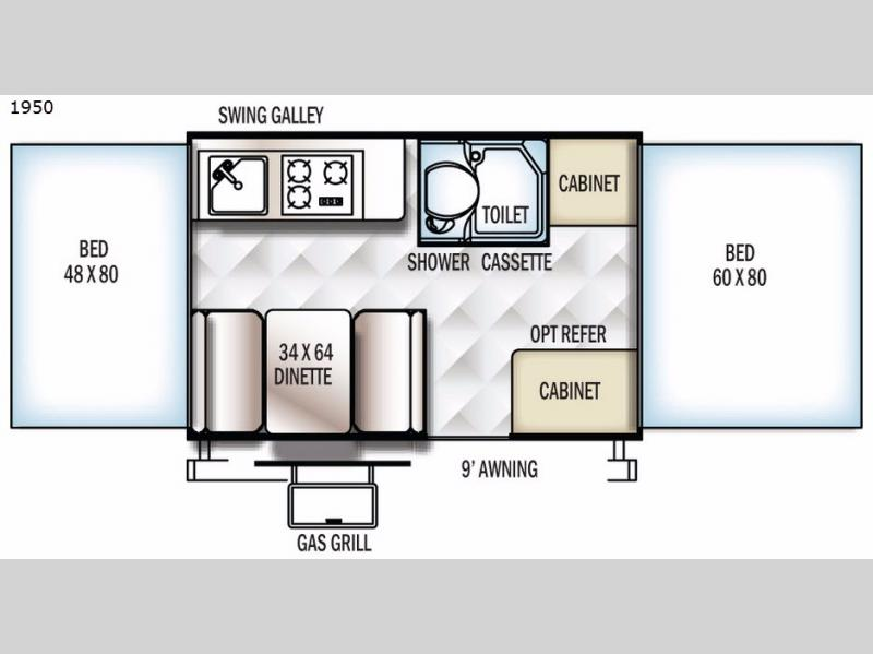 rockwood freedom series folding pop up camper rv sales 6 floorplans. Black Bedroom Furniture Sets. Home Design Ideas
