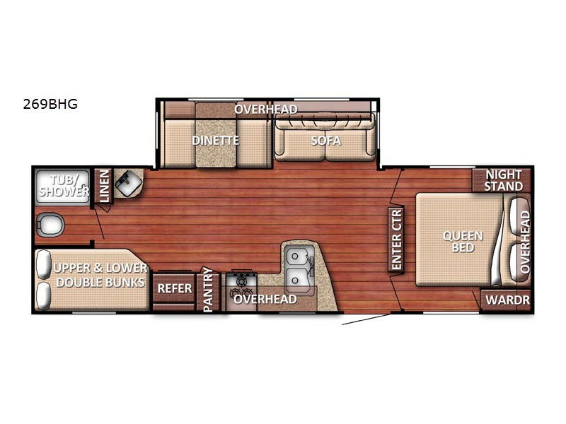 innsbruck 269bhg se series travel trailer what does lin stand for on a floor plan does home plans