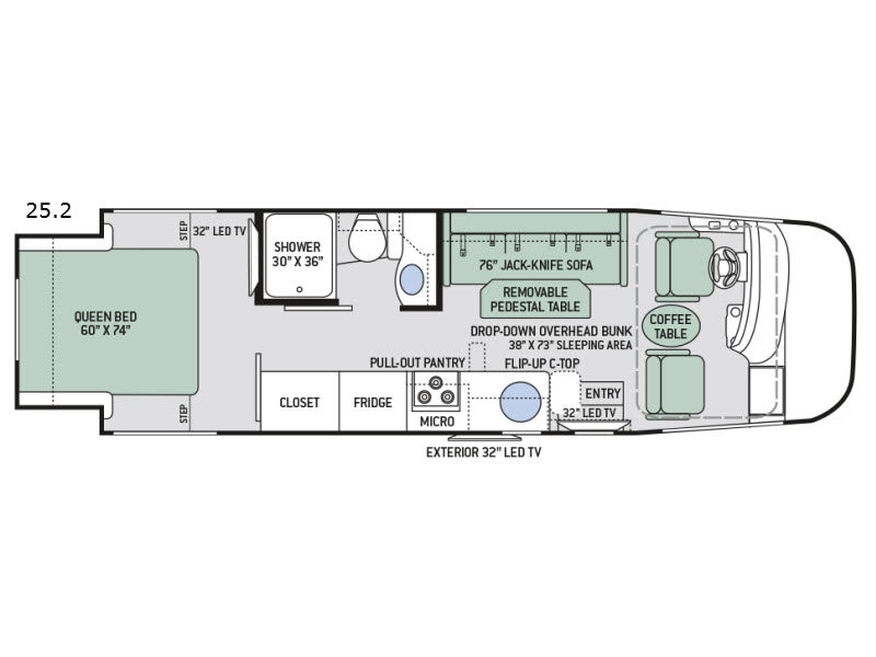 Used 2017 Thor Motor Coach Axis 25 2 Motor Home Class A At