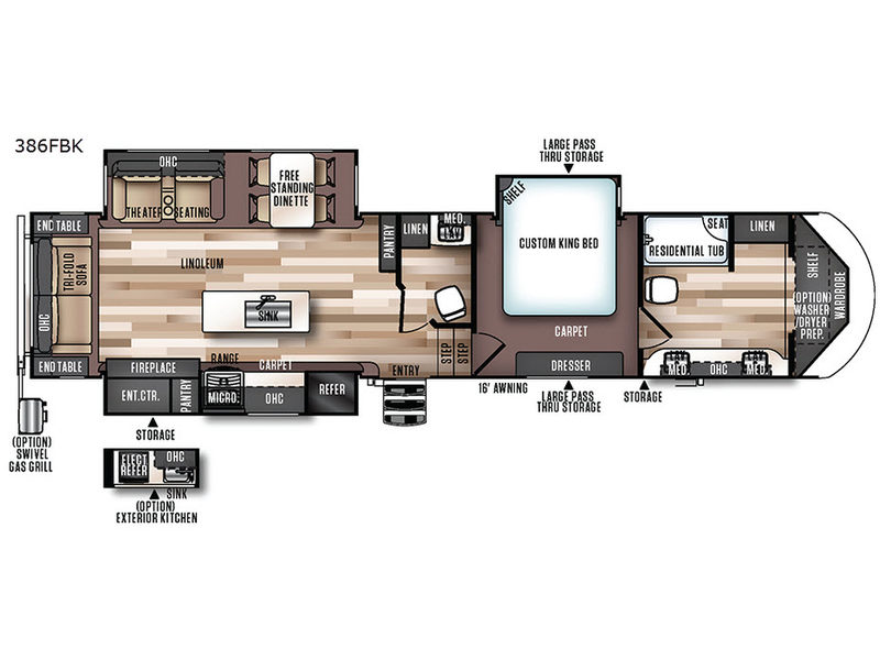 Wildwood Heritage Glen Fifth Wheel RV Sales Floorplans - Forest river 5th wheel floor plans