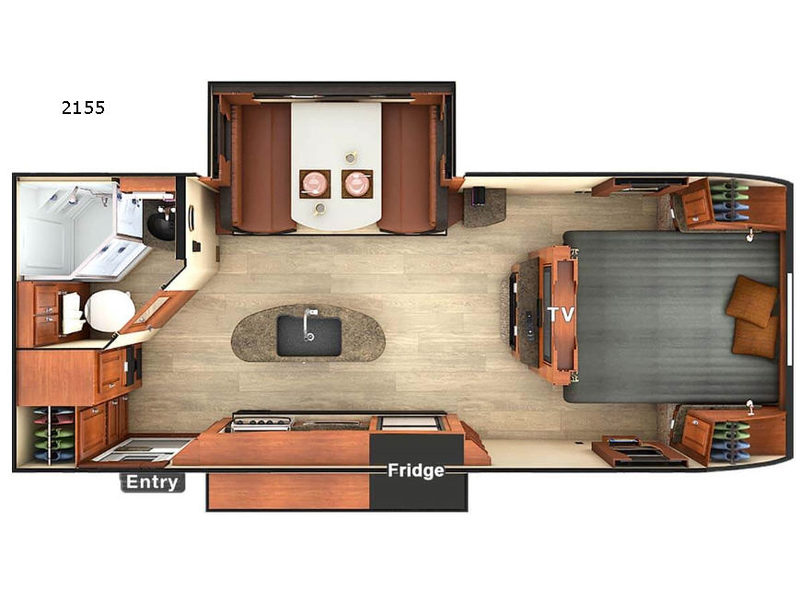 New Lance Lance Travel Trailers 2155 Travel Trailer For