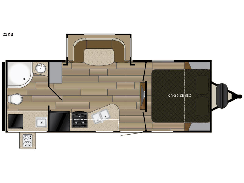 Ultra Lite Travel Trailer With King Size Bed
