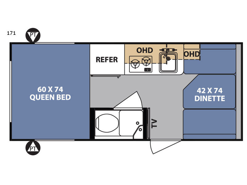 R Pod Travel Trailer Rv Sales 8 Floorplans