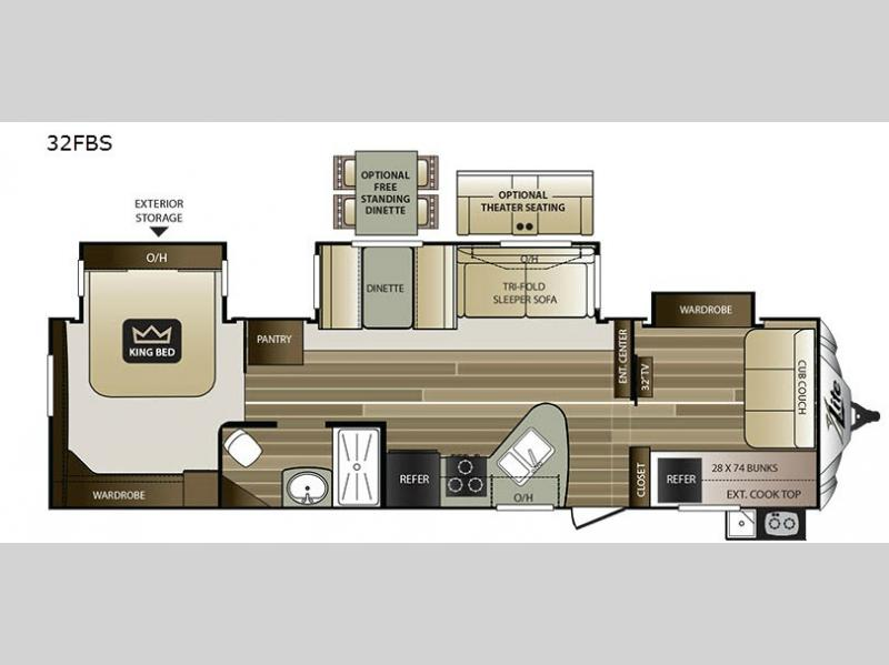 Travel Trailers Floor Plans  Foot