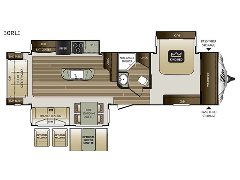 New 2018 Keystone Rv Cougar X Lite 30rli Travel Trailer At