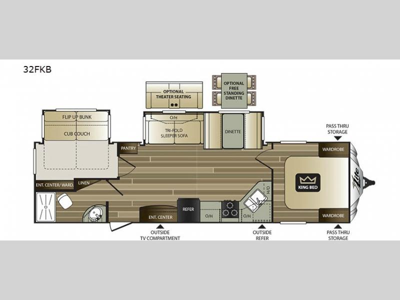 Cougar x lite travel trailer rv sales 13 floorplans for Rv with 2 master bedrooms