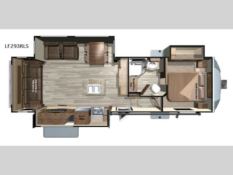 Superb Floorplan   2018 Open Range Light LF293RLS Fifth Wheel