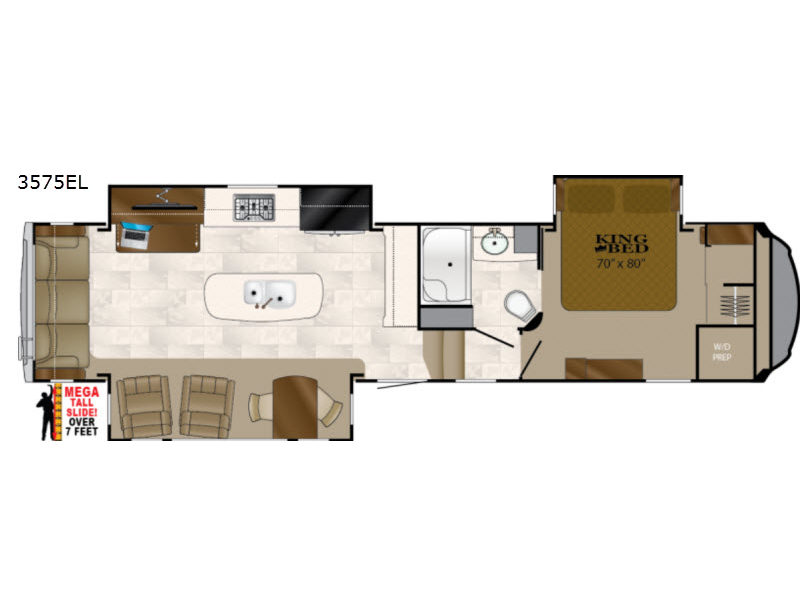 Floorplan Title New 2019 Heartland Bighorn 3575EL