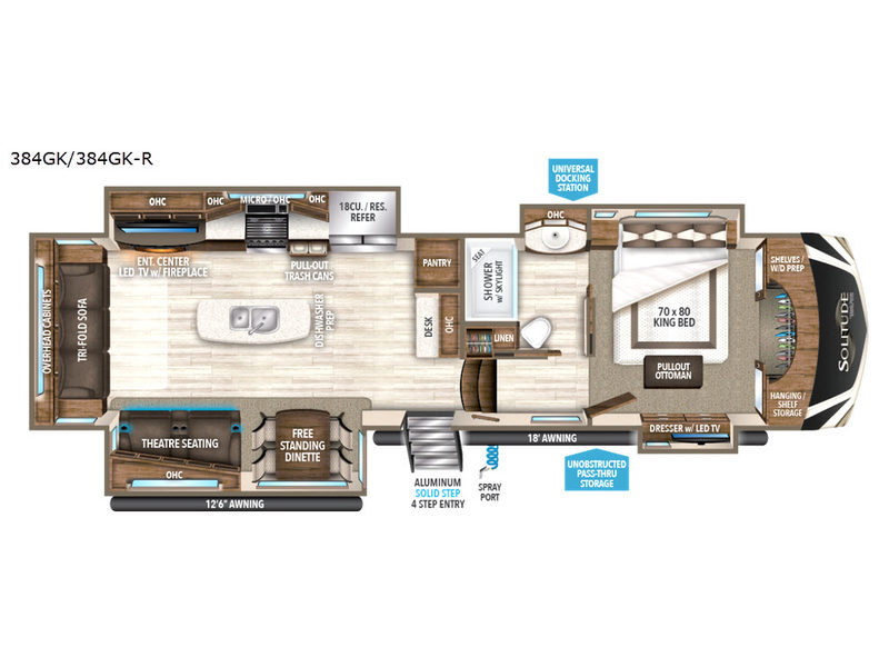 Floorplan - 2017 Grand Design Solitude 384GK R
