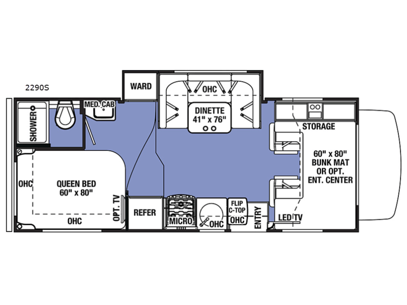 Sunseeker motor home class c rv sales 11 floorplans sunseeker 2290s chevy cheapraybanclubmaster Gallery