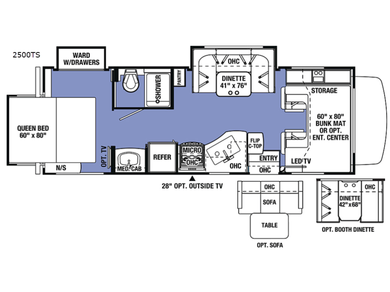 Sunseeker motor home class c rv sales 11 floorplans sunseeker 2500ts ford cheapraybanclubmaster Gallery