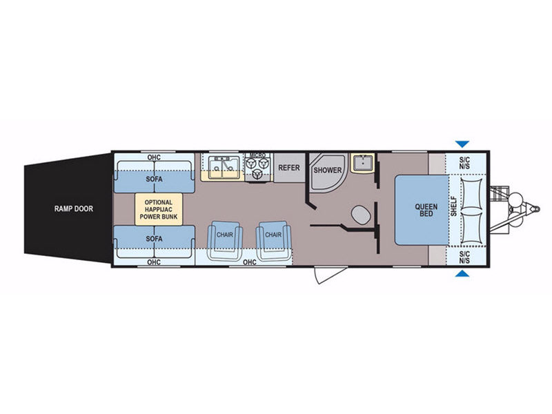 Floorplan - 2017 Dutchmen RV Coleman Lantern Series 250TQ