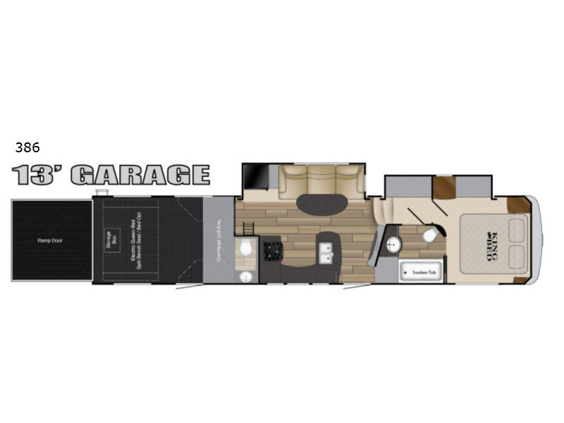 Edge 386 Floorplan Image Edge Toy Hauler