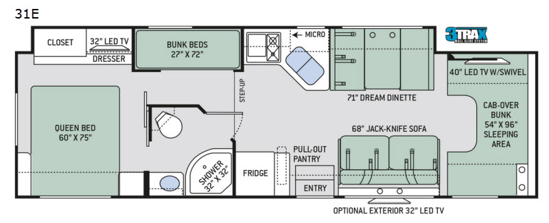 Four Winds Motor Home Class C Rv Sales 21 Floorplans