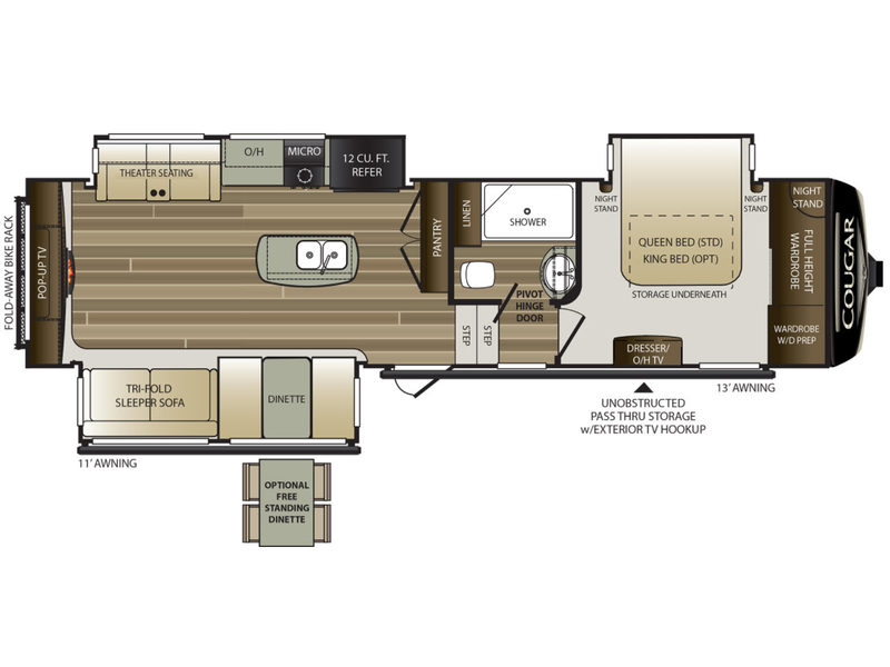 New 2019 Keystone Rv Cougar 311res Fifth Wheel At Pontiac