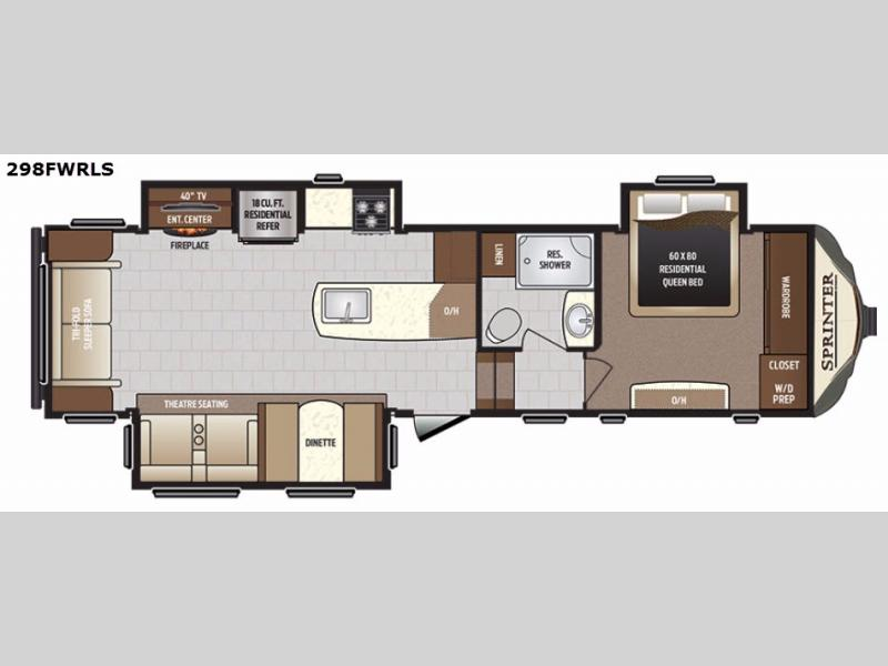 New Keystone RV Sprinter 298FWRLS Fifth Wheel For Sale