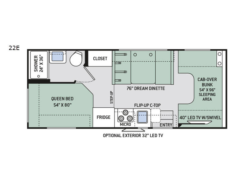 Chateau motor home class c rv sales 17 floorplans for Chateau rv floor plans