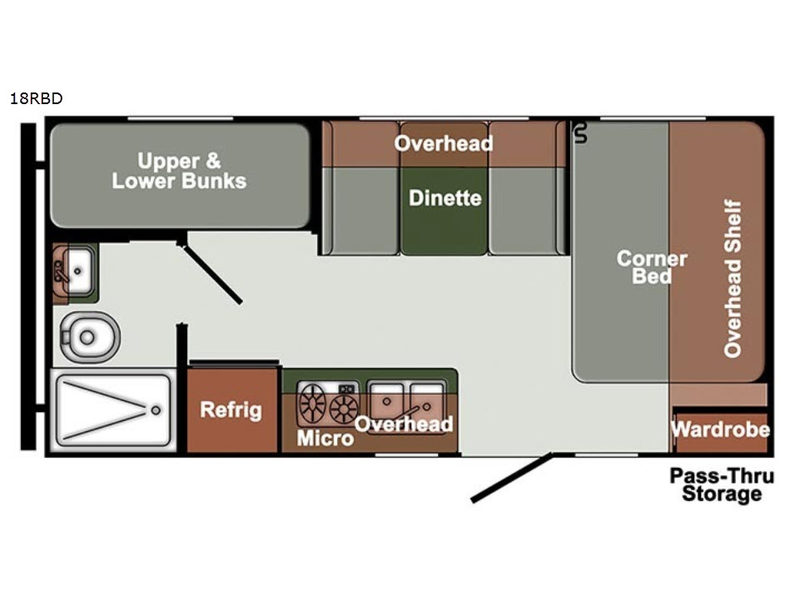 Floorplan - 2017 Gulf Stream RV Gulf Breeze Ultra Lite 18 RBD