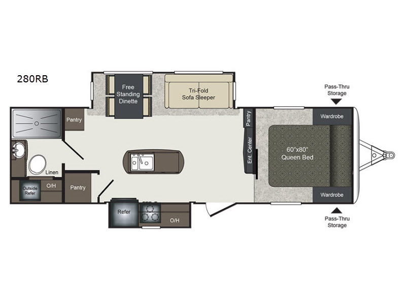 rv floor plans. Laredo 280RB Rv Floor Plans
