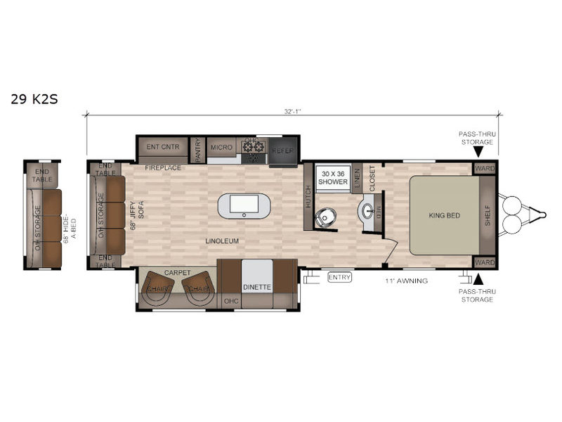 New 2019 East To West Della Terra 29 K2s Travel Trailer At