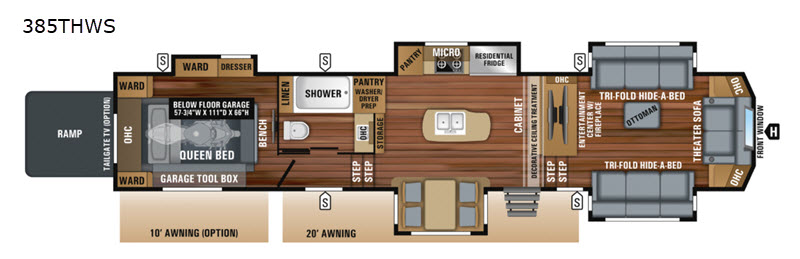 New 2019 Jayco North Point 385thws Toy Hauler Fifth Wheel