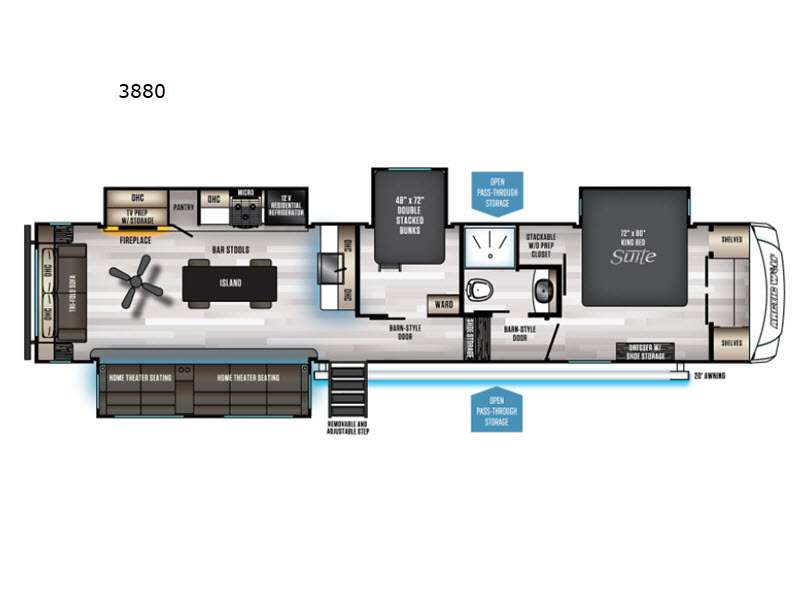 2022 Forest River RV Cherokee Arctic Wolf Suite 3880