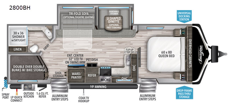 New  2020 32' Grand Design Imagine 2800BH Travel Trailer in Hattiesburg, Mississippi