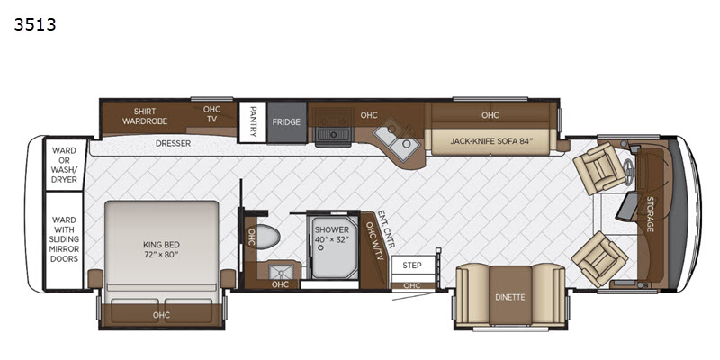 Canyon Star Motor Home Cl A   RV Sales   10 Floorplans on