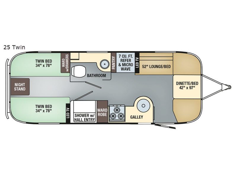 New 2018 Airstream RV Flying Cloud 25 Twin Travel Trailer at