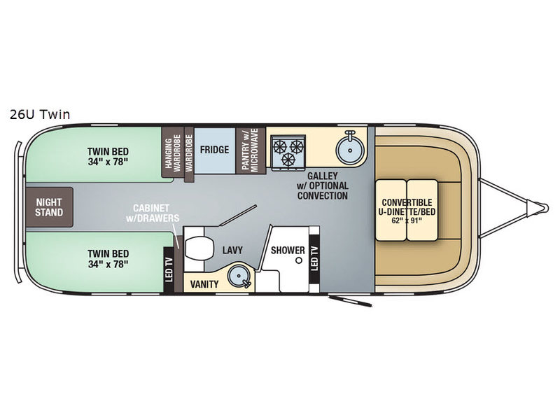 New 2019 Airstream RV Flying Cloud 26RB - Twin Travel