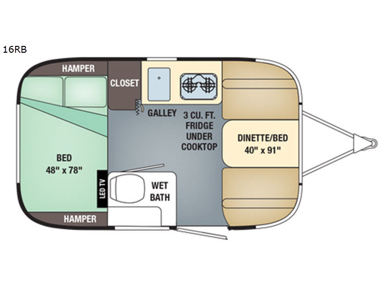 New Airstream RV Sport 16RB Travel Trailer for Sale ...