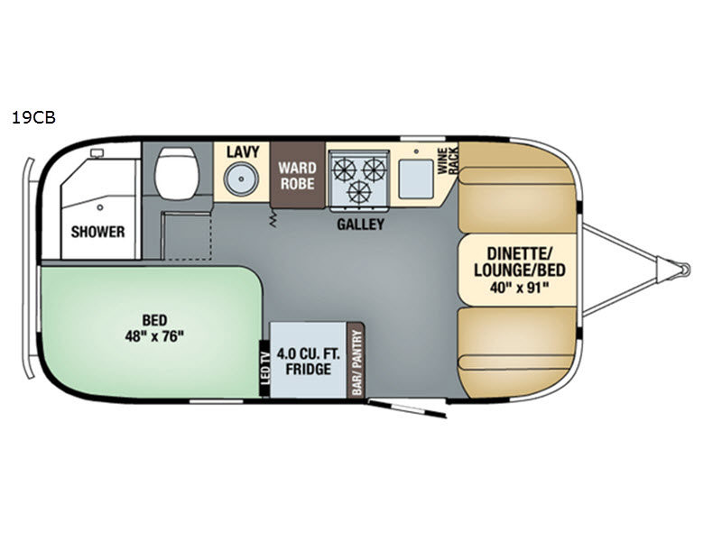 Model New Airstream RV Tommy Bahama 19CB Travel Trailer For Sale | Review Rate Compare Floorplans ...