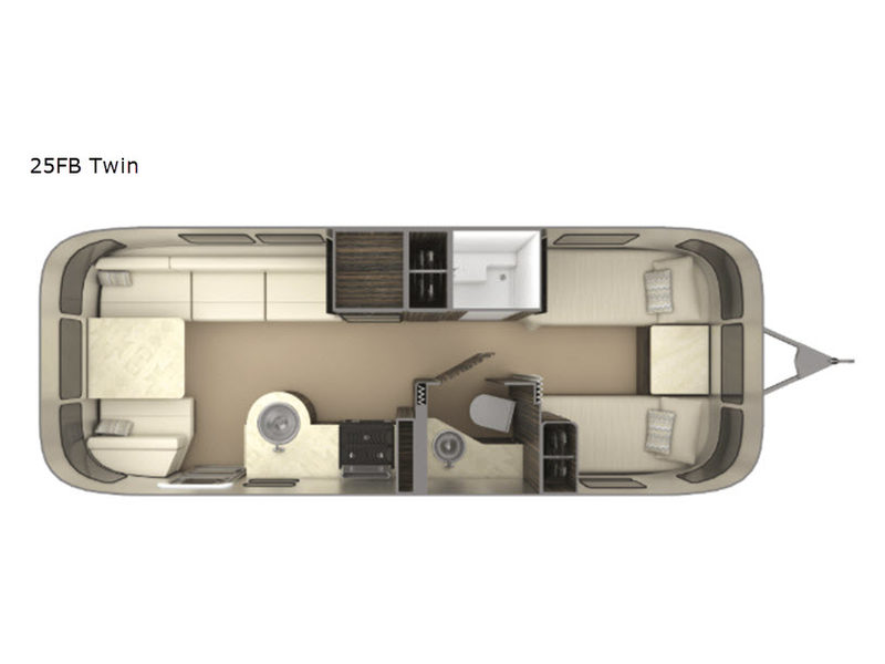 Floorplan - 2017 Airstream RV International Signature 25FB