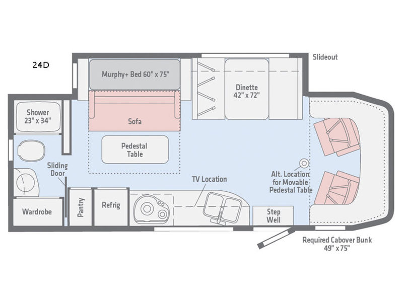 View Motor Home Class C Diesel RV Sales Floorplans - View floor plans