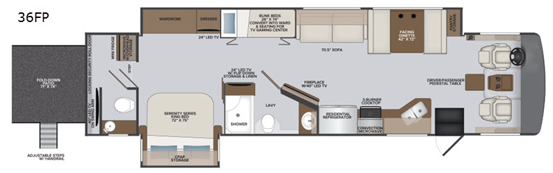 Vacationer Motor Home Class A Rv Sales 5 Floorplans