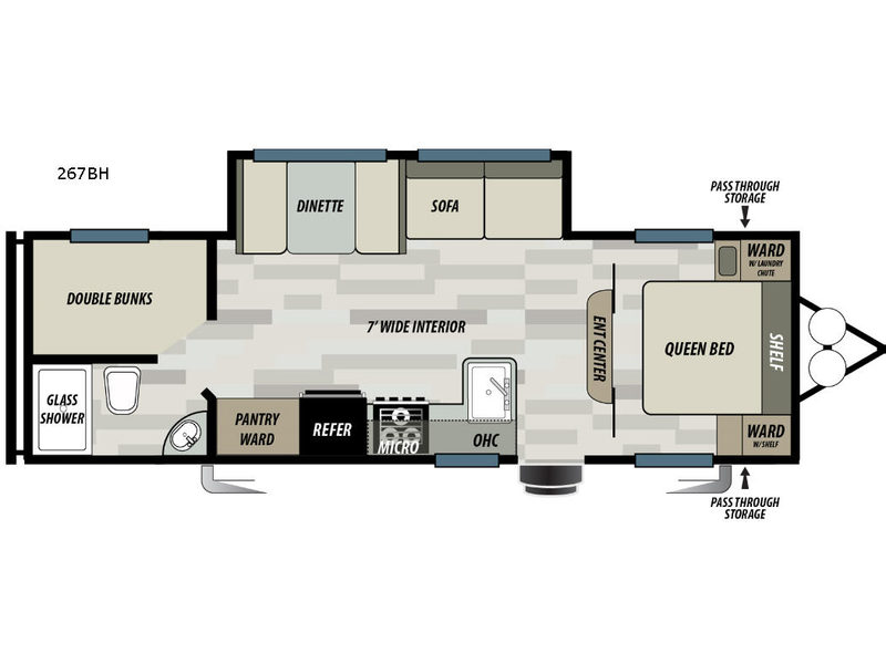 Image result for 2018 SONOMA 267BHS FLOORPLAN