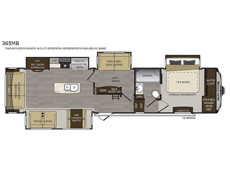 Avalanche Fifth Wheel Rv Sales 17 Floorplans