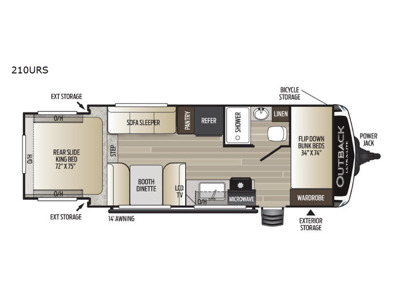 New 2019 Keystone Rv Outback 210urs Travel Trailer At