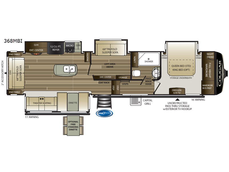 New 2020 Keystone Rv Cougar 368mbi Fifth Wheel At Campers