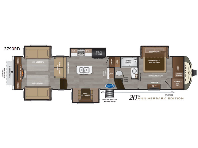 New 2020 Keystone Rv Montana 3790rd Fifth Wheel At Campers