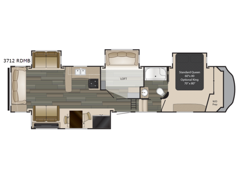 Floorplan 2018 Gateway 3712 RDMB Fifth