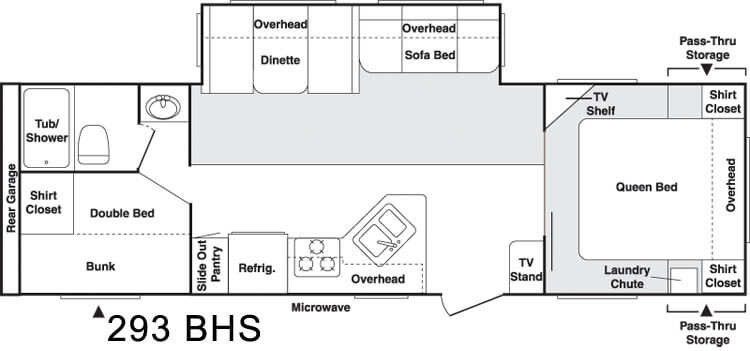mod1087 used 2004 keystone rv cougar 293bhs travel trailer at flagg rv keystone rv wiring diagram at bayanpartner.co
