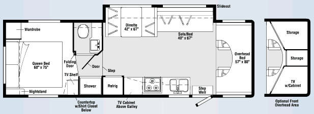 Floorplan - 2008 Winnebago Access 31C