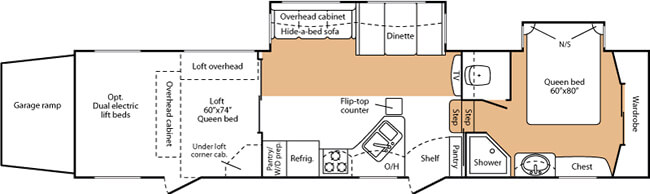 Floorplan - 2008 Keystone RV Fuzion 362