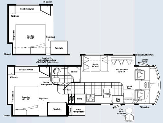 Floorplan - 2008 Itasca Sunrise 35L