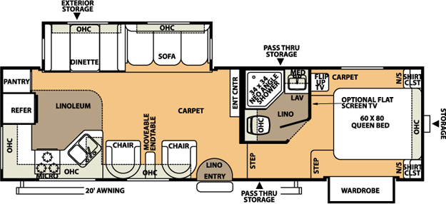 Floorplan - 2008 Forest River RV Rockwood 8280WS