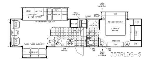Open Road Fifth Wheel Floor Plans: Used 2005 Pilgrim Open Road 357 RLDS Fifth Wheel At