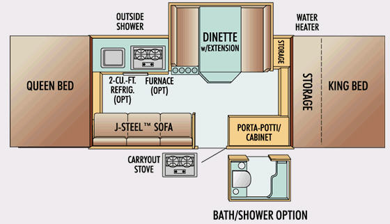 Floorplan - 2009 Jayco Jay Series 1206