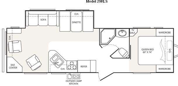 Floorplan - 2009 Keystone RV Outback Sydney Edition 29RLS
