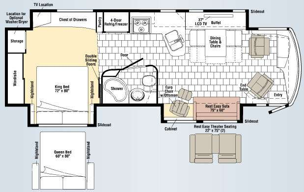 Floorplan - 2009 Winnebago Journey 34Y